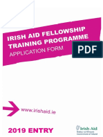 Irish Aid Fellowship Training Programme Application Form 2019
