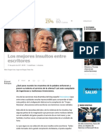 Los mejores insultos entre escritores | Noticias al instante desde LAVOZ.com.ar | La Voz
