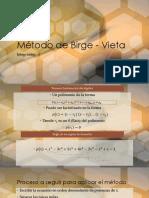 Método de Birge - Vieta