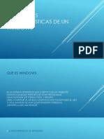 Principales Características de Un Windows