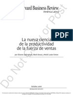 Lectura - New Science of Sales Force Productivity