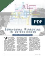 Behav Mirroring Interview