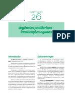INTOXICAÇÕES AGUDAS URGÊNCIA - PEDIATRIA GERAL EMERGÊNCIAS PEDIÁTRICAS E NEONATOLOGIA - SJT RESIDENCIA MEDICA