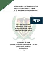 Dificultades en El Aprendizaje de Las Matemáticas en Los Estudiantes Del 6º Grado de Educación Básicaproyecto_unicartagena
