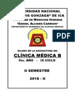Sylabus de clinica medica b