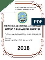 Pre Informe Osciladores Discretos Electronicos 1
