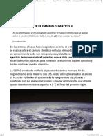 10 Claves Sobre El Cambio Climático (I) _ Sostenibilidad Para Todos