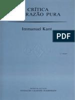 KANT - Critica da razao pura.pdf