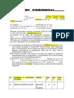Acta de Conformacion p.e 2018