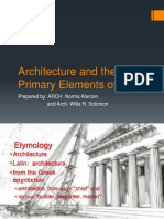Architecture and the Primary Elements of Form