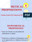 Hypothetical Propositions