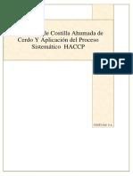 Producción de Costilla Ahumada de Cerdo Y Aplicación del HACCP