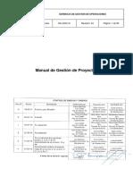 MA-GGO-01 R4 Manual de Gestión de Proyectos
