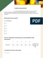 teaching math - needs assessment carlson