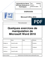 Exercices Office2010 Microsoftword2010 v1.0