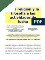 De La Religión y La Filosofía a Las Actividades de Lucha
