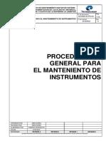 2016523-In-pr-001 Procedimiento General Para El Mantenimiento de Instrumentos Rev A