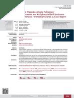 Chronic Thromboembolic Pulmonary Hypertension and Antiphospholipd Syndrome With Immune Thrombocytopenia