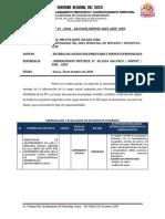 Informe Nº. 03- Entrega de Cargo y Bienes
