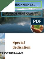 Environmental Management Quality
