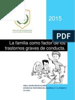 La familia como factor de los  trastornos graves de conducta.