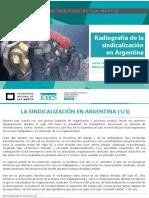 Sindicalización en Argentina Universidad San Martin Octubre 2018