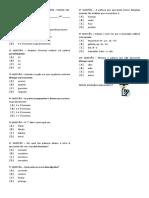 Avaliações sobre fonemas, escansão e pronomes.