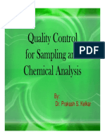 Quality Control for Sampling and Chemical Analysis