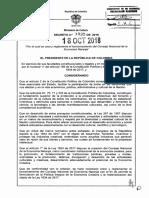 Decreto 1935 Del 18 de Octubre de 2018