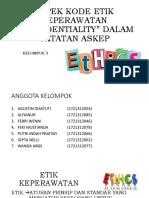 Aspek Kode Etik Keperawatan Lk III