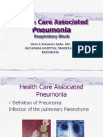 Healthcare Associated Pneumonia - Dr. Christian a. Johannes, Sp.an.KIC
