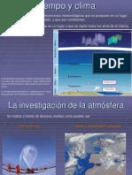 la investigación de la atmósfera