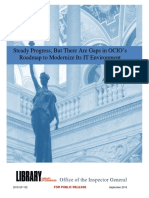 Library of Congress OIG Report No. 2018-SP-102, Steady Progress, But There Are Gaps in OCIO's Roadmap to Modernize Its IT Environment