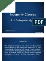 Indemnification Presentation