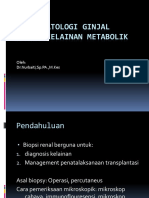 Histoplatologi Ginjal Akibat Kelainan Metabolik