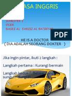 b. Ing Kls 3 ( He is a Doctor )
