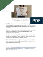 Stephanie Ritter Menjual Diplomanya Di EBay