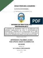 INFORME FINAL, PRACTICAS Preprofesionales II. Ing Civil