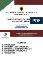 Control Tecnico de Estructuras de Concreto Armdo - Ing. Jorge Buzon Ojeda