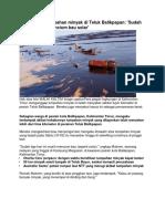 Tabrakan Kapal yang menyebabkan pencemaran laut