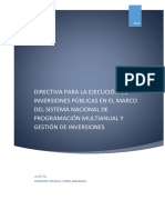 Funciones de La Dirección General de Programación Multianual de Inversiones