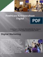 Pembicara Kewirausahaan Digital, Fast Respon Call / WA