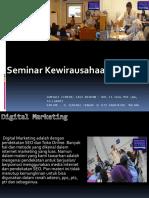 Seminar Kewirausahaan Digital, Fast Respon Call / WA