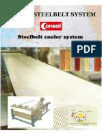 consol steel belt cooler cooling belt double belt flaker steel belt granulator