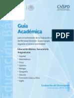 Guía Académica Secundaria 2018