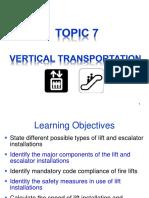 Topic 7 Vertical Transportation (2012) Stu 1