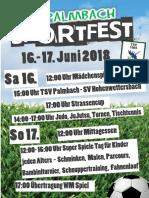 Plakat Sportfest2018