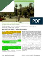Aproximación Bioclimática Para El Diseño de Espacios Públicos, Análisis Inicial en Distintas Plazas Chilena