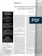 an annotated list of studies for the bass trombone