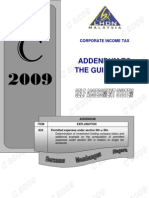 Addendum to C 2009 Guidebook